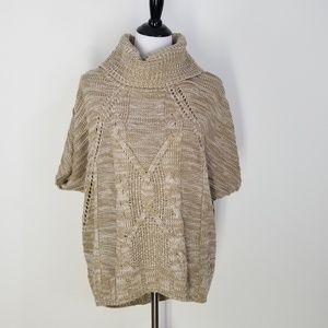 One A Womens Beige Cable knit Sweater M